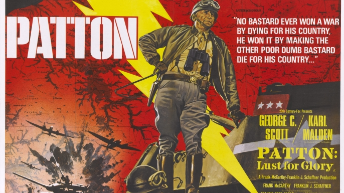 "Poster for the film ""Patton,"" starring George C. Scott. (Credit: Movie Poster Image Art/Getty Images)"