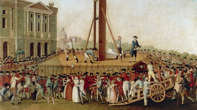 Execution of Marie Antoinette on October 16, 1793., french revolution