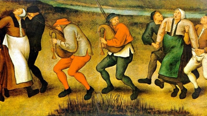 Painting of dancing plague.