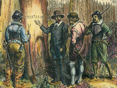 the mystery of the lost roanoke colony Archeologists may have solved mystery of the 'lost  a map drawn by roanoke colonial  long way to go to uncover the mystery of the lost colony,.