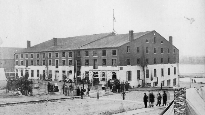 Libby Prison in April 1865. (Credit: Alexander Gardner)