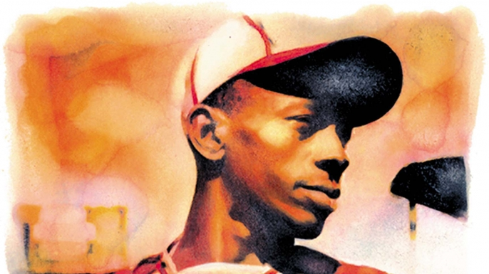Illustration of Satchel Paige. (Credit: Dallas Morning News/Getty Images)
