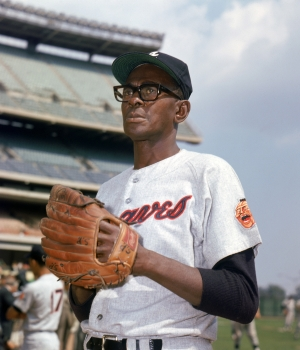 Satchel Paige of the Atlanta Braves circa 1968. (Credit: Louis Requena/Getty Images)