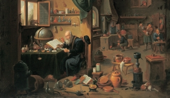 An alchemist's workshop by David Teniers. (Credit:  Imagno/Getty Images)