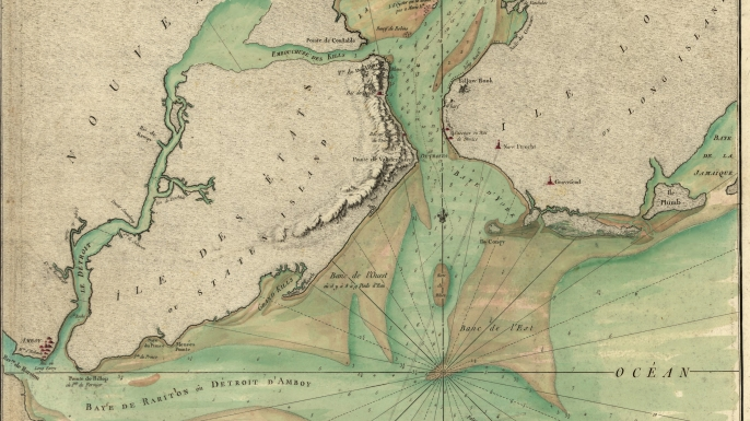 French map of the Hudson River Valley and surrounding area, New York, 1778. (Credit: Buyenlarge/Getty Images)