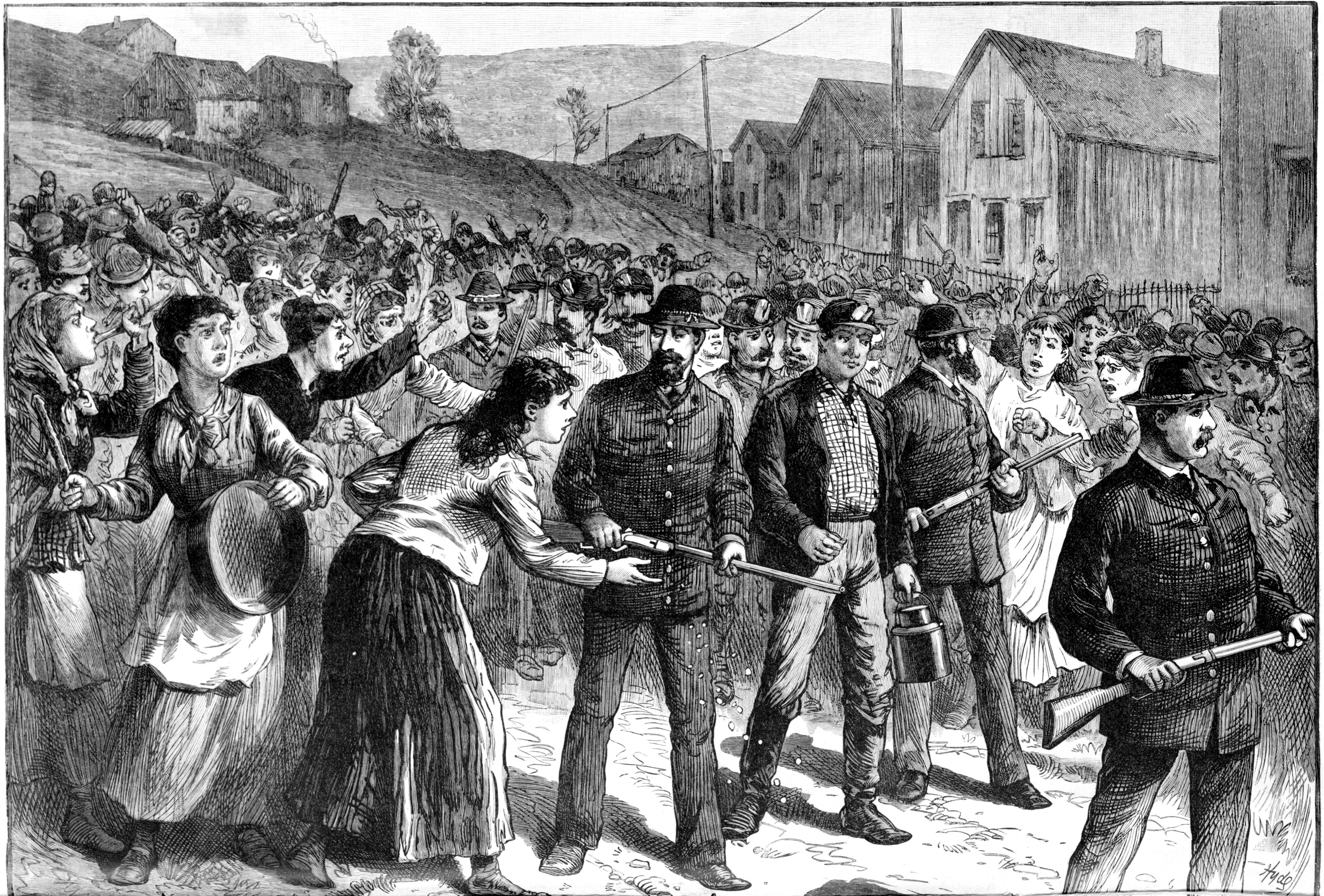 things you not know about the pinkertons lists pinkerton guards break up a strike in buchtel ohio in 1884