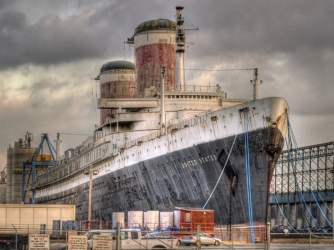 Current view of the SS United States. (Credit: SS United States Conservancy)