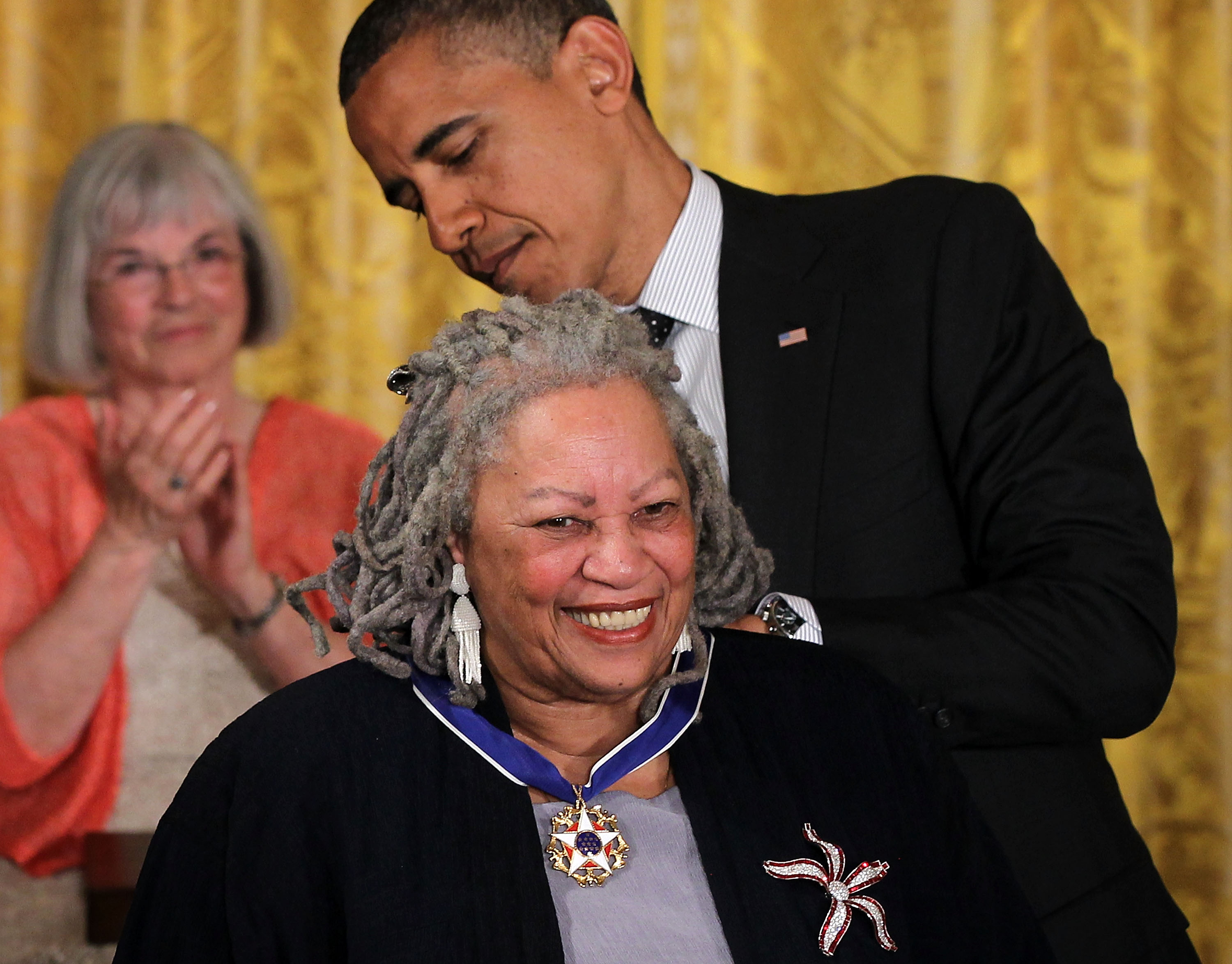 famous authors day jobs lists novelist toni morrison is presented a presidential medal of dom by u s president barack obama