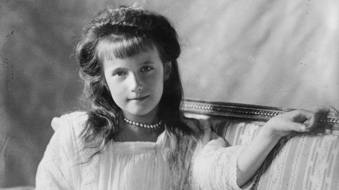 Grand Duchess Anastasia Nikolaevna of Russia, the youngest daughter of Tsar Nicholas II and Tsarina Alexandra of Russia. (Credit: Heritage Images/Getty Images)