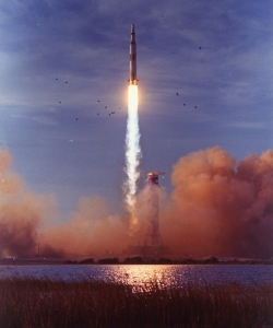 Liftoff of Apollo 8.  (Credit: Ralph Morse/Getty Images)
