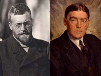 James Mann Wordie (L) and Ernest Henry Shackleton (R).
