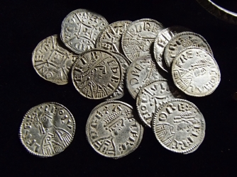 Coin group 3 from the Watlington Hoard. (Credit: Portable Antiquities Scheme)