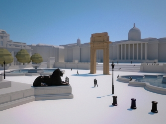 Model of the arch in Trafalgar Square. (Credit: Institute for Digital Archaeology)