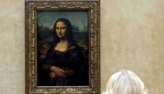 "Leonardo da Vinci's ""Mona Lisa"" in the Louvre Museum.  (Credit: Chris Radburn-Pool/Getty Images)"