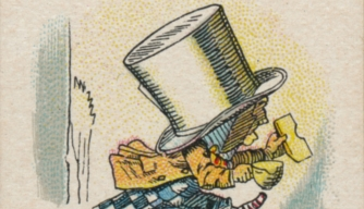 "The Hatter from Lewis Carroll's ""Alice in Wonderland."" (Credit: The Print Collector/Getty Images)"