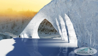 3D Sketch of Da Vinci's Bridge in Ice. (Credit: Bridge in Ice/http://www.facebook.com/bridgeinice)