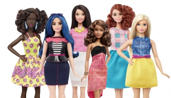 The newly-released 2016 Barbie Fashionistas. (Credit: Mattel)