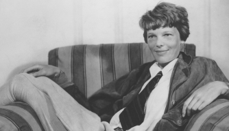 Photo of Amelia Earhart, circa 1935. (Credit: FPG/Getty Images)