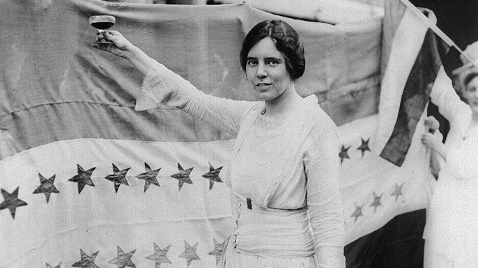 Alice Paul, American suffragist, 1920. (Credit: Universal History Archive/Getty images)