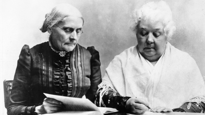 Susan B. Anthony (L), Elizabeth Cady Stanton (R), 1899 (Credit: Universal History Archive/Getty images)