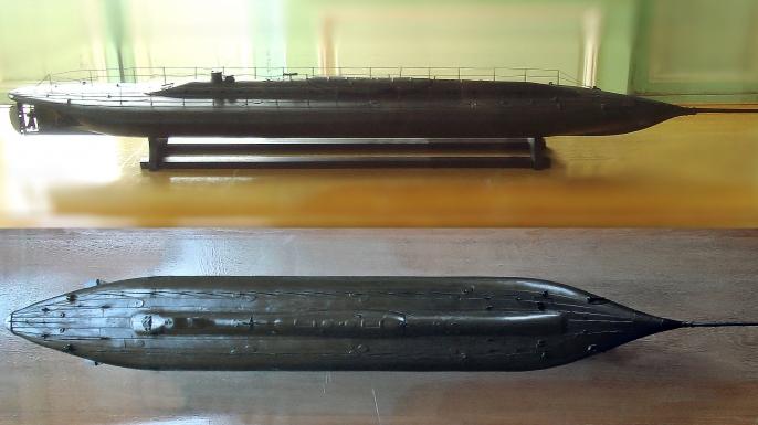 Model of the Plongeur. (Credit: Public Domain)