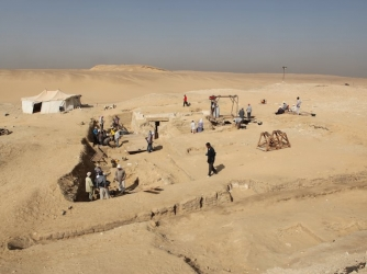 The site where the funerary boat was discovered. (Credit: Archives of the Czech Institute of Egyptology, V. Dulíková)