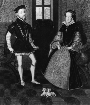 mary i of england, philip ii of spain