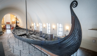 The Viking Ship Oseberg, Viking Ship Museum. (Credit: Mark Harris/Getty Images)