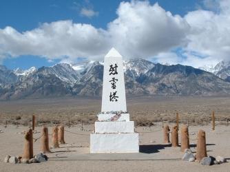 Cemetery shrine, Manzanar Japanese internment camp. (Credit: Daniel Mayer)