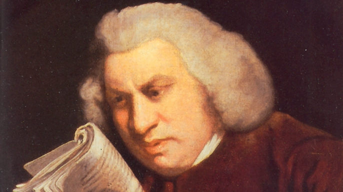 A portrait of Samuel Johnson by Joshua Reynolds. (Credit: Public Domain)