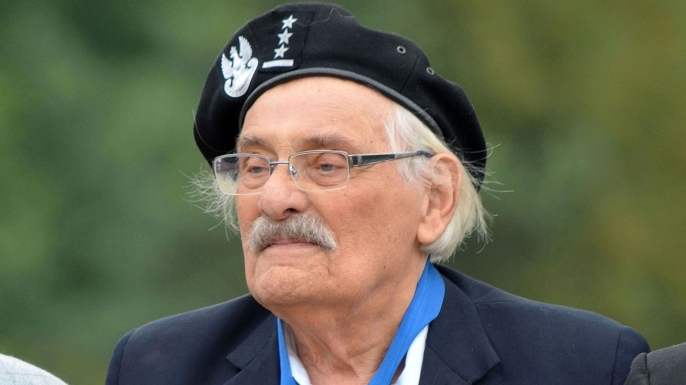 Samuel Willenberg during commemorative ceremony to mark 70th anniversary of the revolt in Treblinka death camp at Treblinka. (Credit: Adrian Grycuk)