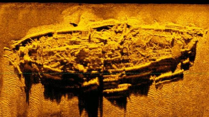 Archaeologists found a Civil War-era shipwreck off the coast of North Carolina in the Atlantic Ocean. (Credit: North Carolina Department of Natural and Cultural Resources)