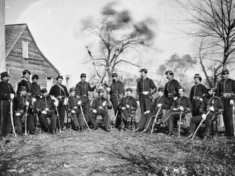 Third Regiment, Corcoran's Irish Brigade. (Credit: Matthew Brady/Getty Images)