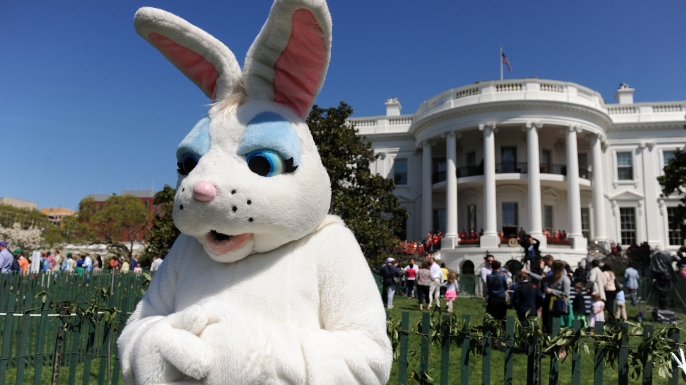 The 2014 Easter Egg Roll. (Credit: Olivier Douliery-Pool/Getty Images)