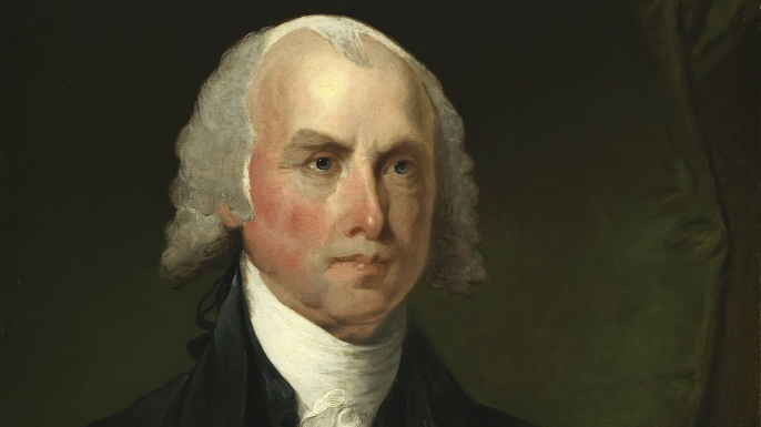 Portrait of James Madison. (Credit: Public Domain)