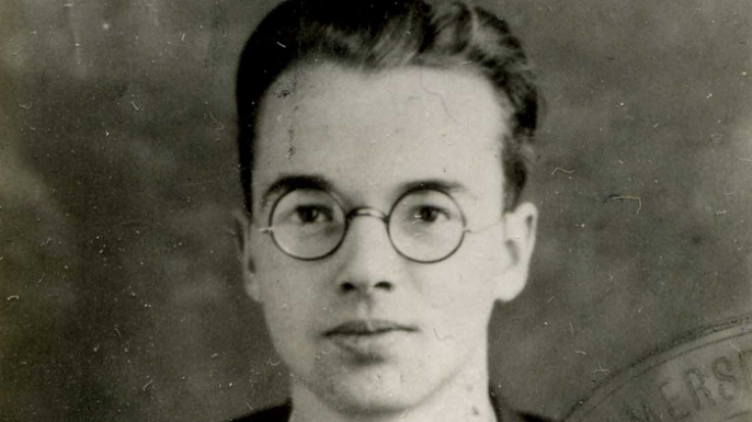 Police photograph of Physicist Klaus Fuchs. (Credit: Public Domain)