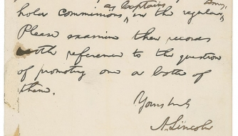 Lincoln's letter about the Irish Brigade up for auction.