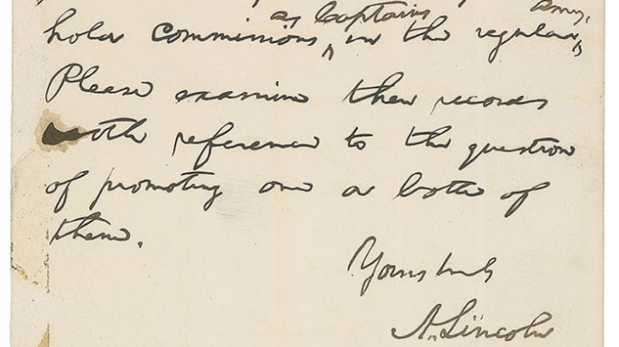 lincolns letter about the irish brigade up for auction