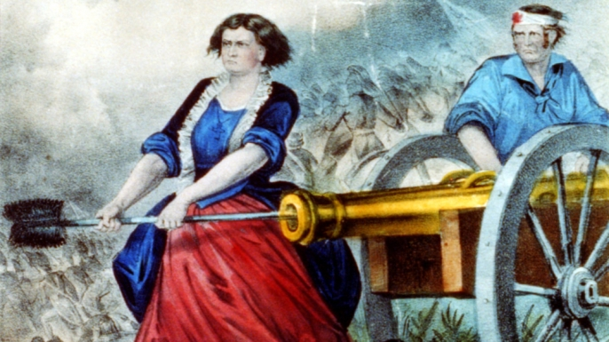 Molly Pitcher, the heroine of Monmouth. (Credit: Public Domain)