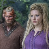 Alexander Ludwig as Bjorn, Katheryn Winnick as Lagertha, Vikings