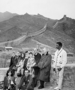 American delegation of tennis table players visit the Great Wall of China, in April, 1971. (Credit: AFP/Getty Images)
