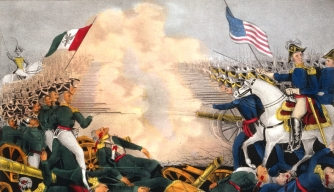Mexican-American War 1846-1848: Battle of Buena Vista. (Credit: Universal History Archive/Getty Images)