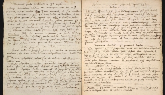 "Manuscript in which Newton copied and annotated an alchemist's cryptic recipe for preparing a substance called ""sophick mercury."" (Credit: Chemical Heritage Foundation)"