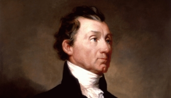 James Monroe official White House portrait, 1819. (Credit: Public Domain)