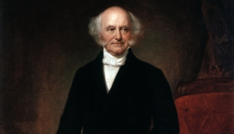 1858 portrait of Martin Van Buren on display at the White House. (Credit: Public Domain)