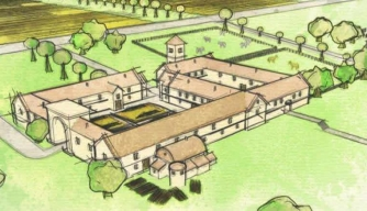 Reconstruction of Roman villa in Wiltshire. (Credit: Manifesto)