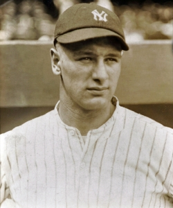 Lou Gehrig during his rookie year. (Credit: Public Domain)
