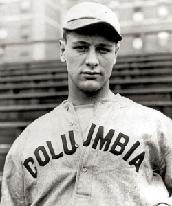 Lou Gehrig on the Columbia University baseball team. (Credit: Public Domain)