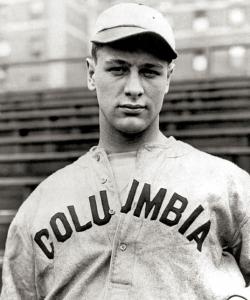 Lou Gehrig on the Columbia University baseball team. (Credit: Public Domain)