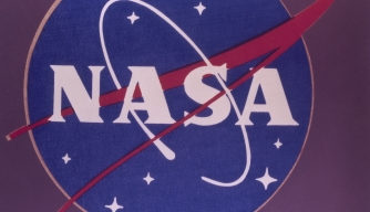The insignia of the National Aeronautics and Space Administration (NASA), circa 1970. (Credit: Space Frontiers/Getty Images)